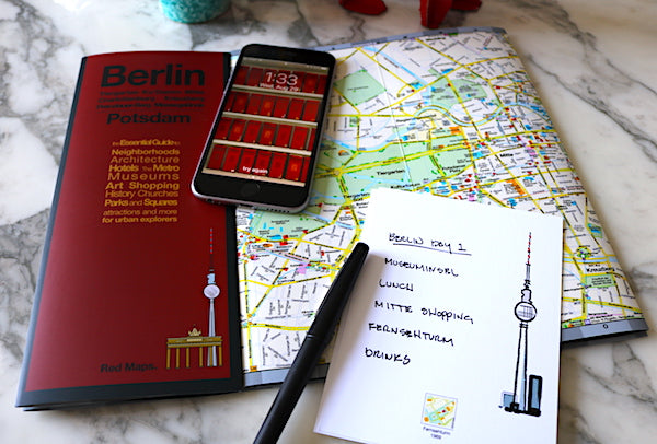 image of Berlin map with iPhone