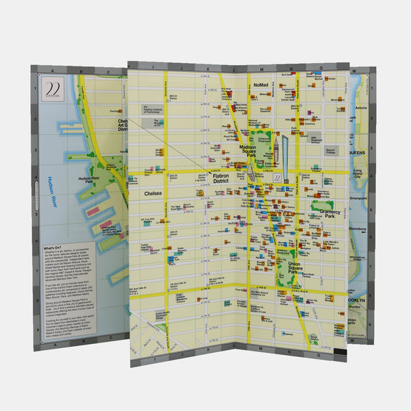 Madison Square NYC custom neighborhood map from a real estate brochure.