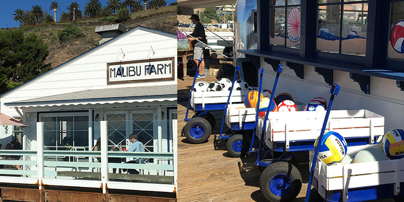 views on Malibu Fishing Pier of Malibu Farm restaurant and Ranch at the Pier Shop