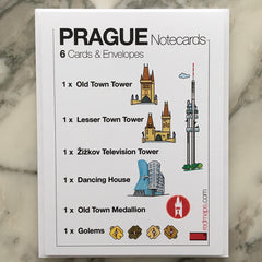image of prague notecards by red maps