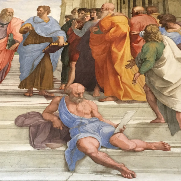 Detail image from Raphael's School of Athens fresco