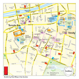 image of map central dublin by red maps