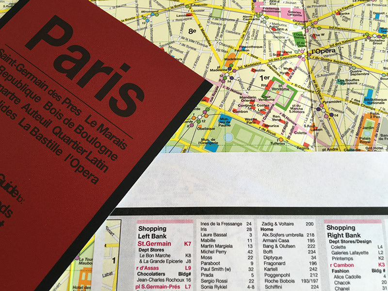 image of red map paris shopping guide