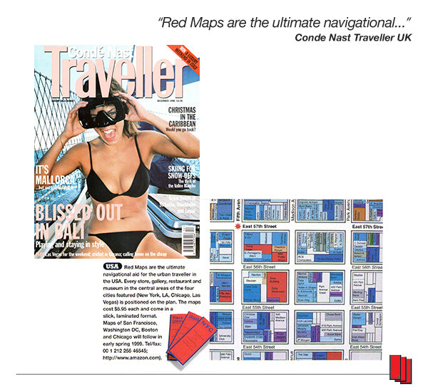 Conde Nast Traveller UK Magazine Article Recommending Red Maps