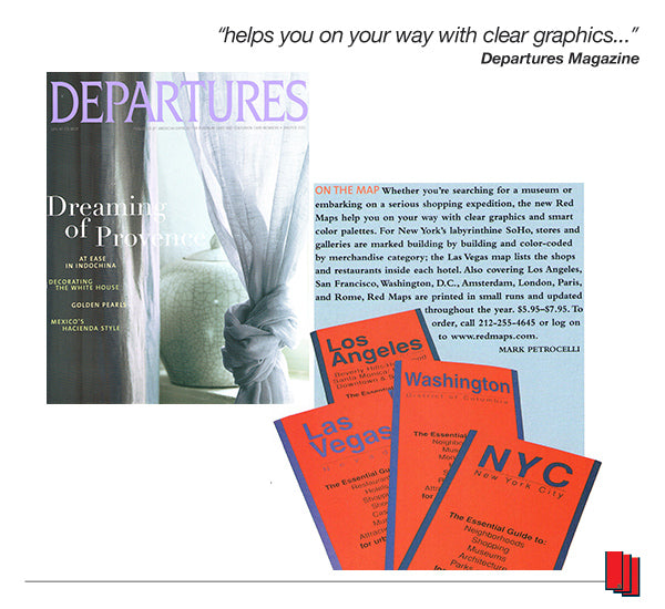 Departures Magazine Article Recommending Red Maps