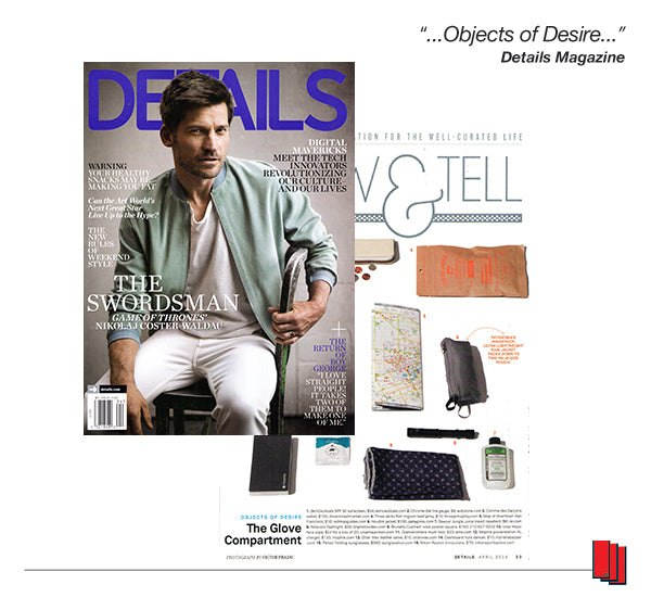 Details Magazine cover showing Nikolaj Coster Waldau and article recommending Red Maps