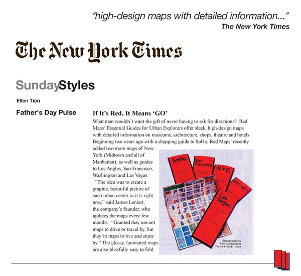 New York Times article that recommends Red Maps city guides