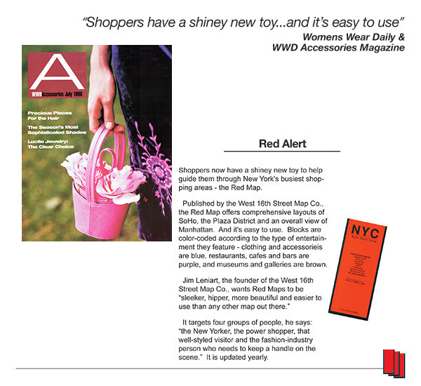 Womens Wear Daily article recommending Red Map s city guides