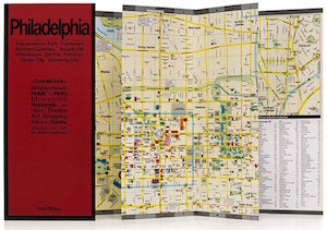 photo of a foldout map of Philadelphia