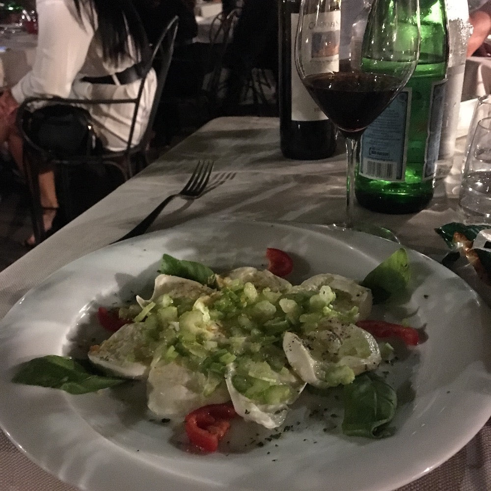 image of plate of pasta at santa lucia restaurant in rome