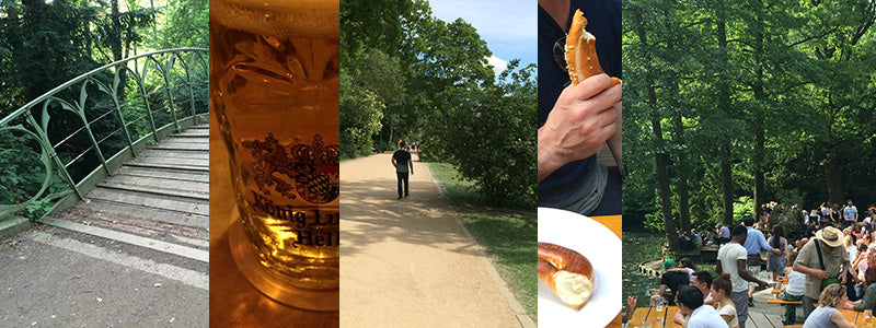 outdoor scenes and food in the Tiergarten Berlin