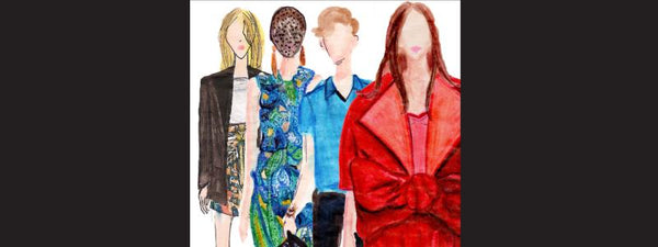 illustration of NYC fashion week models