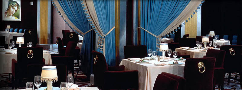 luxurious restaurant interior in Las Vegas