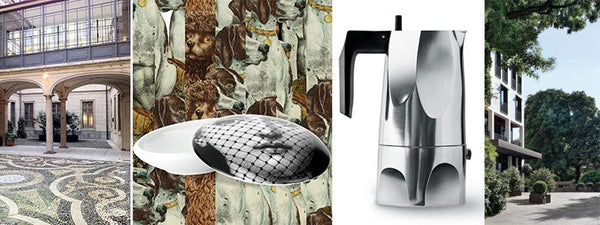 images of Milan design objects by fornasetti, alessi, and of the bulgari hotel in milan