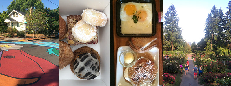 baked goods and breakfast from Broder Cafe in Portland