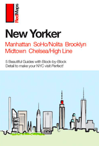 cover of red maps set of new york city guides