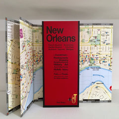map of New Orleans showing the Mississippi Riverfront