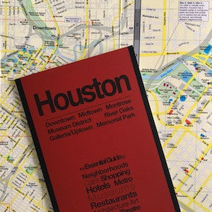 image showing a tourist map of Houston