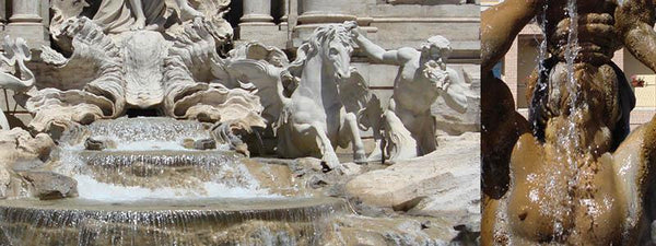 image of trevi fountain sculptures