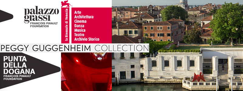 images of Venice museum signs and the Peggy Guggenheim Museum