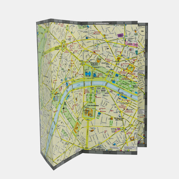 Custom map of Paris showing locations of highly-rated Michelin-starred restaurants.