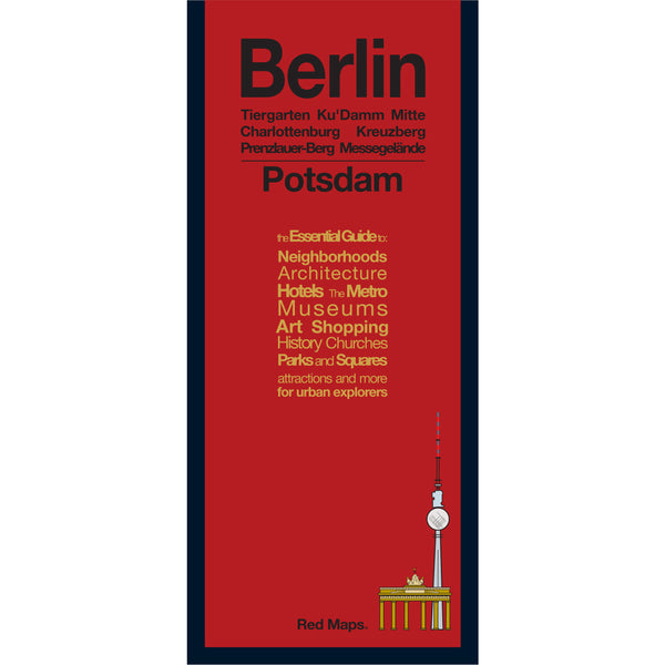 foldout map of berlin and potsdam with a red cover