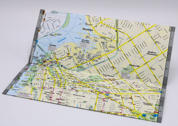 Brooklyn-map-with Dumbo, Fort Greene and Prospect Heights museums, restaurants and shopping.