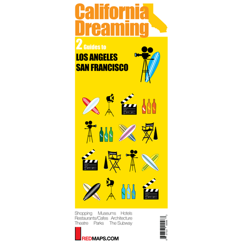 Multi-City map set called California Dreaming that has two cultural guides to Los Angeles and San Francisco