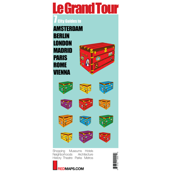 Multi-City map set called Grand Tour with 7 cultural guides to Madrid, Paris, London, Rome, Vienna Berlin and Amsterdam