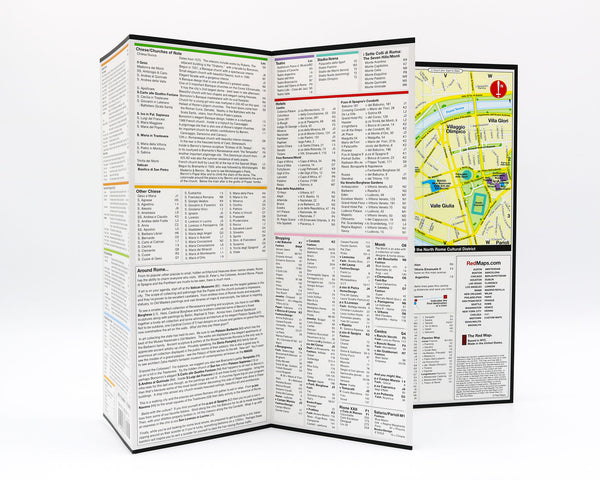 Map of Rome with information and descriptions about Rome landmarks, museums and ancient buildings.