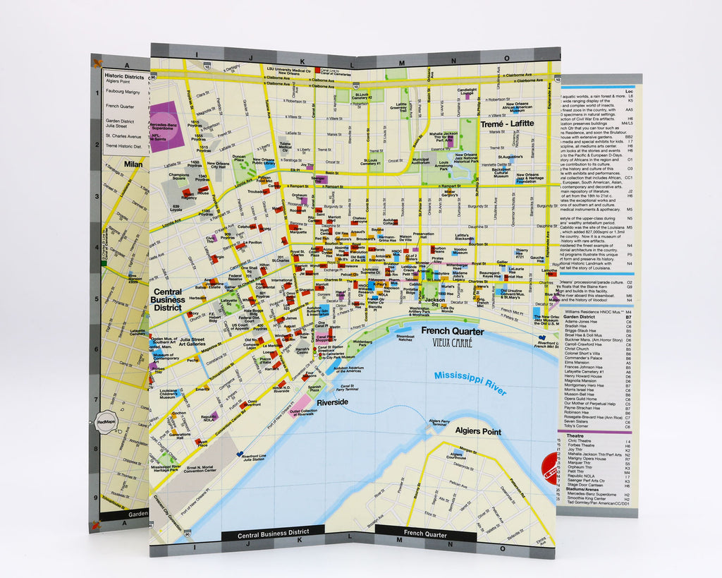 New Orleans Map And City Guide Red Maps