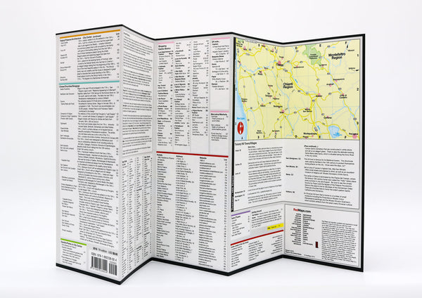 A map Florence with detailed lists and information of important historic landmarks, museums, architecture and shopping.