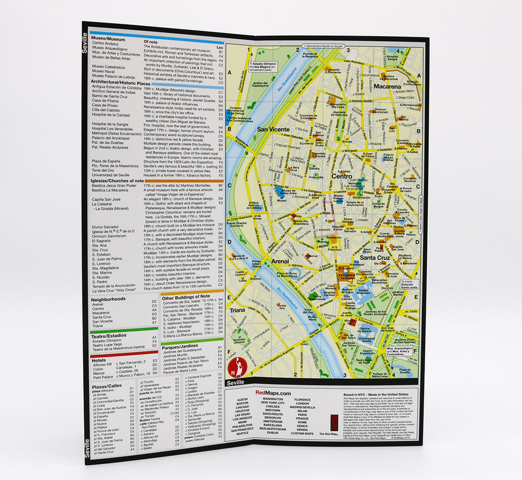 Map Of Spain Landmarks.Madrid Map Seville Street Map And City Guide Red Maps