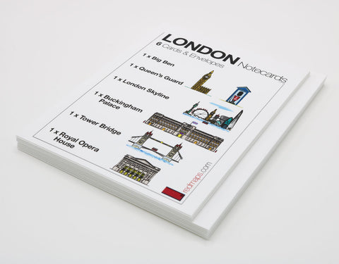 LONDON Landmarks Themed Stationery