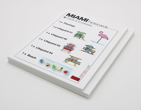 MIAMI BEACH Landmarks Themed Stationery
