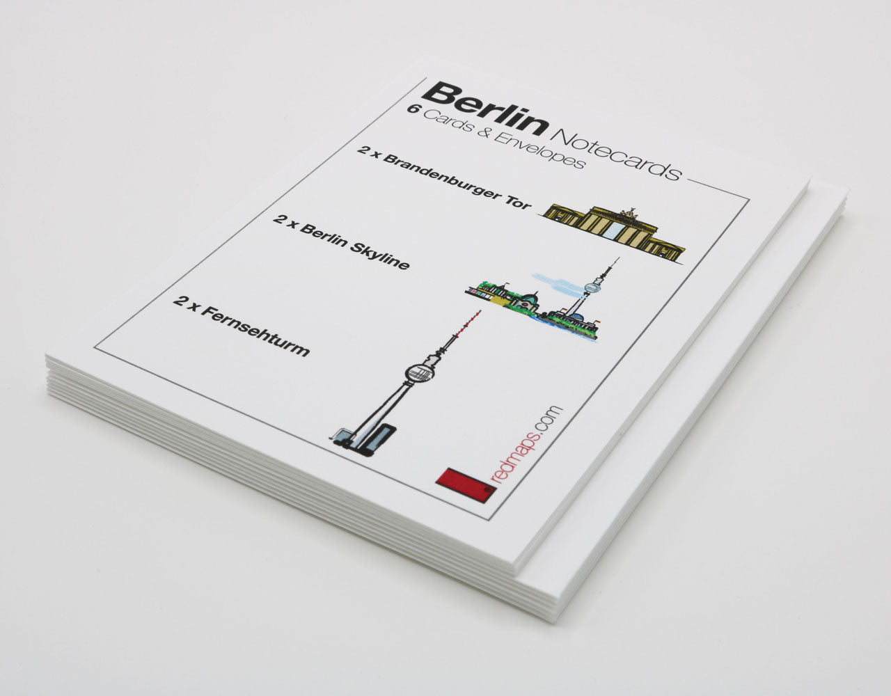 Set of Berlin themed stationery note cards