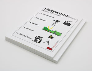 Hollywood movies-themed stationery notecards