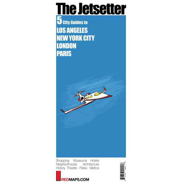 Multi-City map set called Jetsetter with 5 cultural guides to Los Angeles, New York City, Paris and London