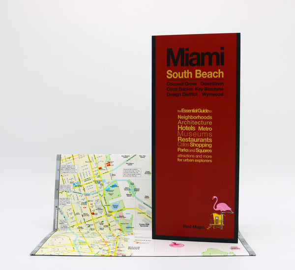 Miami South Beach and Downtown Miami neighborhoods map.