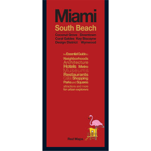 Miami South Beach travel map with red cover.