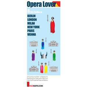 Multi-City map set called Opera Lover with 6 cultural guides to Milan, London, Paris, Berlin, Vienna & NYC