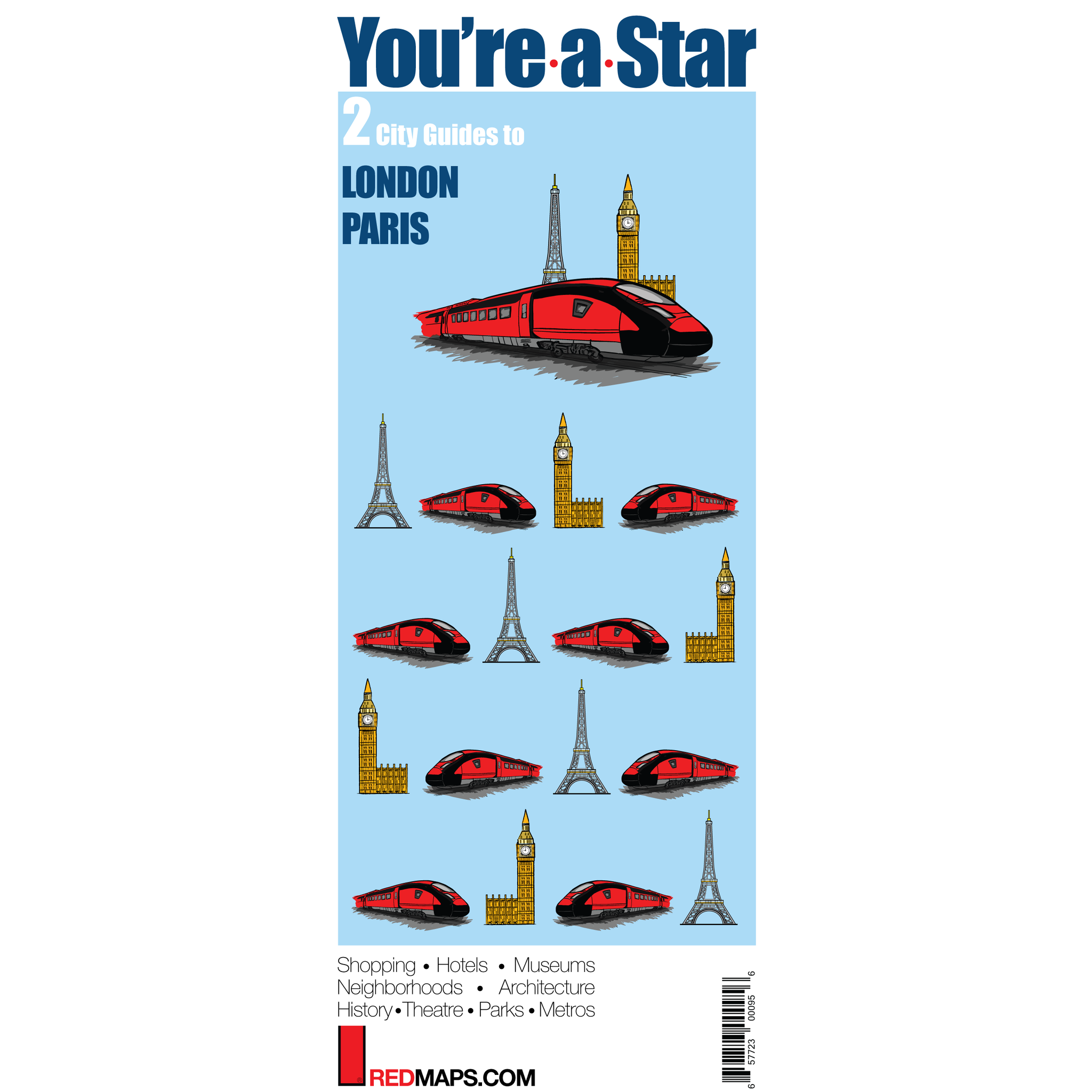 Multi-City map set called You're-A-Star that has two cultural guides to London and Paris
