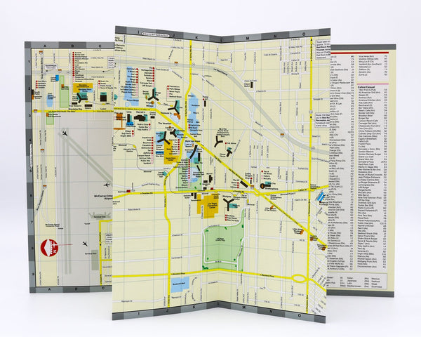 Entertainment, dining and shopping map of Las Vegas Strip and Fremont Street..