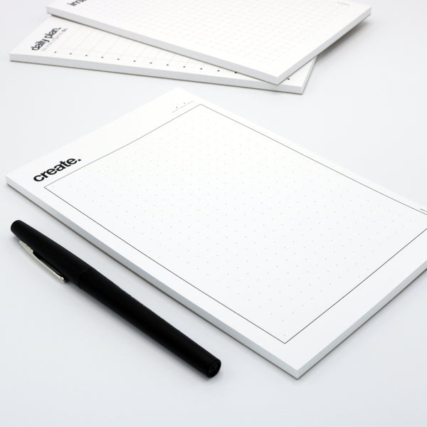 5 inch x 8 inch drawing pad with dots