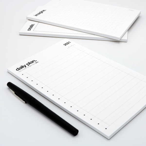 5 inch x 8 inch daily planner notepad