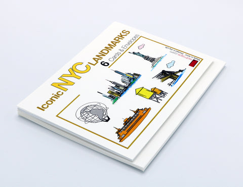 NYC notecard set with famous New York City Landmarks.