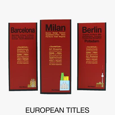 image of the different covers of Red Maps city guides