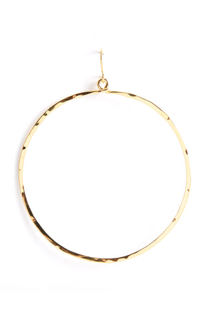Hammered Circle-Gold