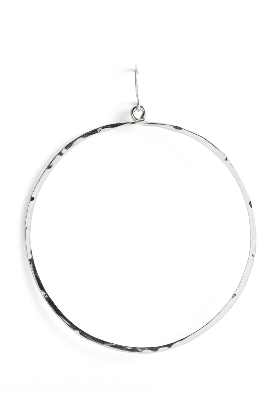 Hammered Circle-Silver
