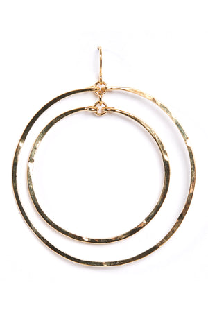 Hammered Double Circle-Gold